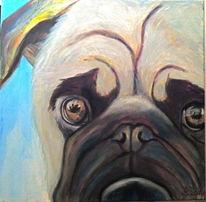 Tiere, Hund, Ölmalerei, Malerei