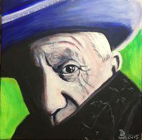 Pop art, Mann, Malen, Portrait