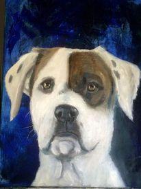 Fell, Acrylmalerei, Wasservermalbare ölfarbe, Portrait