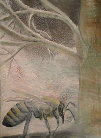 Insekten, Ölmalerei, Kalt, Winter