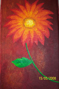 Malerei, Spachteltechnik, Blumen, Acrylmalerei