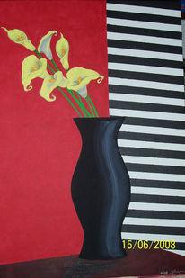 Blumen, Acrylmalerei, Malerei, Pflanzen