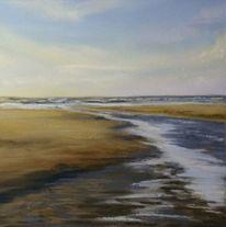 Strand, Priel, Sand, Meer