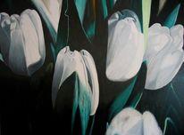 Kreide, Tulpen, Blumen, Pastellmalerei