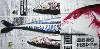 Zeitung, Zeitungspapier, Japan, Fisch