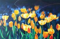 Richtiger künstler, Malerei, Blumen, Richtige kunst