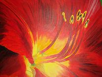 Acrylmalerei, Blüte, Malerei