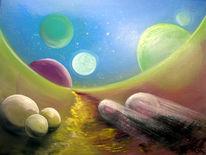 Ölmalerei, Kugel, Malerei, Surreal