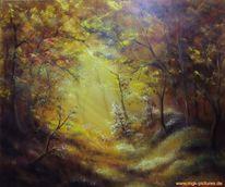 Wald, Lichtung, Malerei