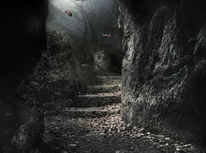 Gruft, Nebel, Höhle, Fantasie