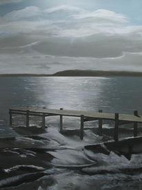 Meer, Ostsee, Acrylmalerei, Dänemark