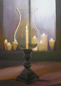 Licht, Lampe, Malerei, Stillleben