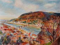 Beitrag, Fluss, Herbst, Neckar