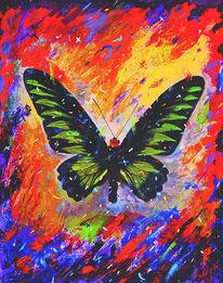 Fliegen, Schmetterling, Ölmalerei, Tagfalter