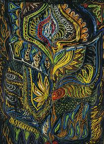 Pastellmalerei, Ethnic, Natur, Schweif