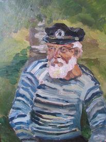 Portrait, Matrose, Rauchen, Beitrag