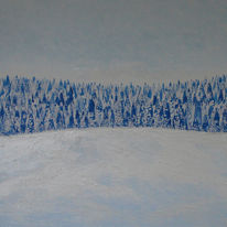 Acrylmalerei, Gravitation, Landschaft, Winter