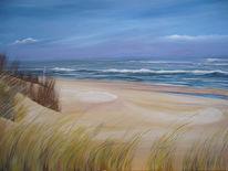 Stehen, Meer, Wangerooge, Malerei