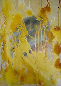 Portrait, Gelb mystisch, Verborgen, Malerei