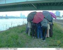 Brücke, Schirmtreffen, Menschen, Schirm