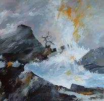 Landschaft, Felsen, Berge, Malerei