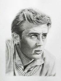 James dean, Portraitzeichnung, Bleistiftzeichnung, Portrait