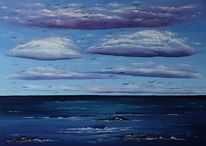 Zugvögel, Ostsee, Seelandschaft, Wolken