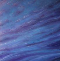 Trauer, See, Wolken, Malerei