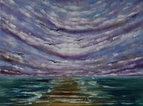 See, Wolken, Meer, Sehnsucht