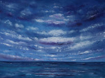 Meer, See, Seelandschaft, Malerei