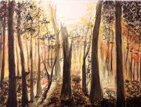 Sonne, Gegenlicht, Herbst, Wald
