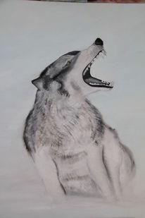 Ölmalerei, Wolf, Malerei,