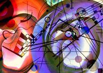 Modern, Farben, Digitale kunst, Gemälde