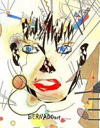 Digitale kunst, Gemälde, Wand, Modern