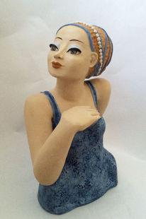 Keramikfigur, Keramik, Skulptur, Büste