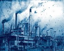 Architektur, Gemälde, Rauch, Umwelt