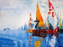 Seefahrt, Meer, Boot, Segel
