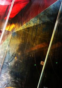Spiegel, Glas, Licht, Holz