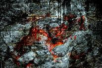 Stamm, Körper, Mauer, Wald