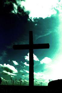 Erde, Herz, Landschaft, Kreuz