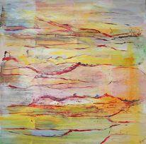 Ferne, Landschaft, Fantasie, Gelb