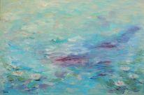 Nebel, Unendlichkeit, Teich, Seerosen