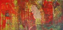 Abstrakt, Acryl styropor, Collage, Zeitung
