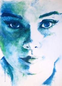 Mund, Blau, Auge nase, Gesicht