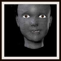 Menschen, Parameter, Schwarz, Gesicht