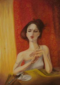 Kaffee, Woman portrarit, Licht, Zeichnungen