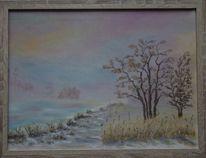 Morgenstimmung, Schnee, Winter, Ufer