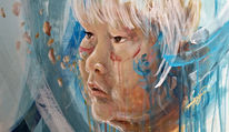 Gesicht, Portrait, Kritisch, Blau