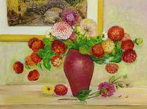Begonie, Vase, Strauß, Sonnenblumen