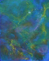 Universum, Schweben, Traum, Malerei